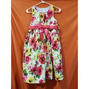 Pink floral party dress new size 14 1/2